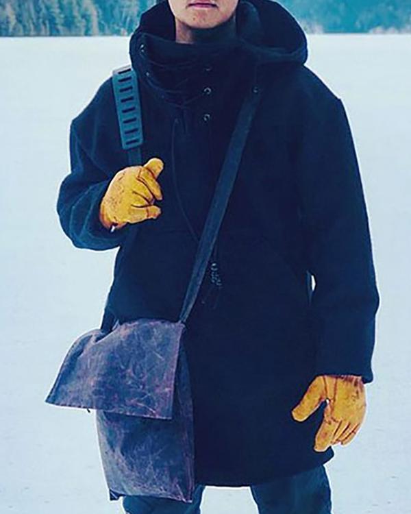 Casual Woolen Men's Trendy Coat