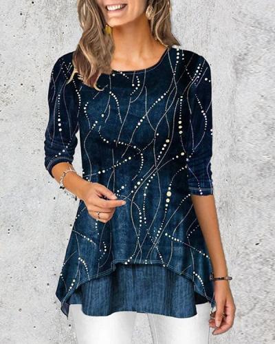 Women Cotton-Blend Half Sleeve Tops