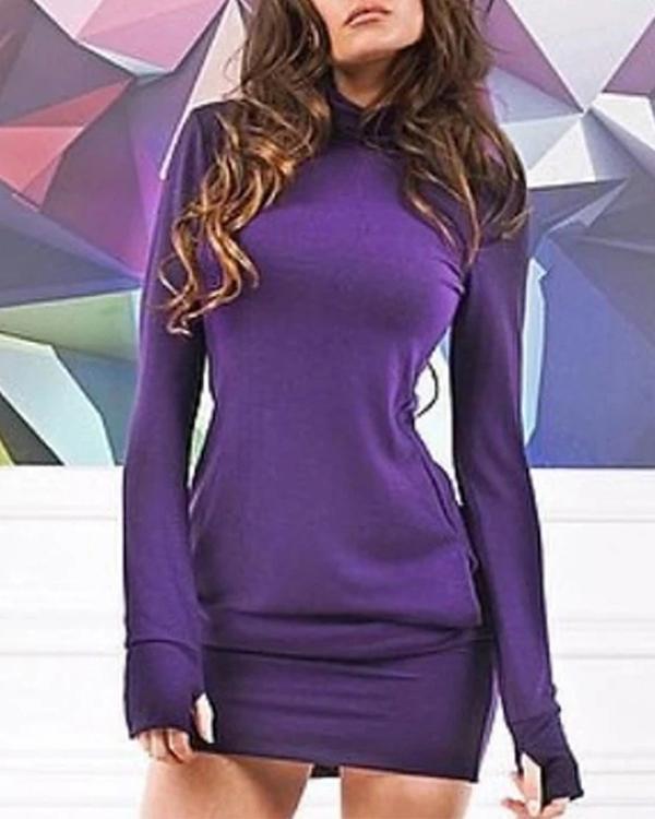 Women's Sweater Jumper Dress Short Mini Dress