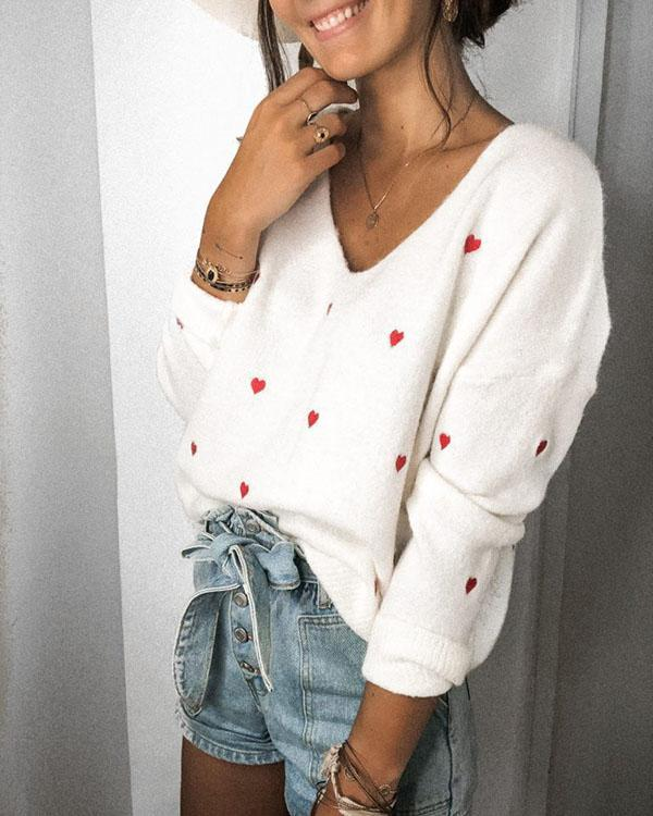 Women's Casual Trendy Sexy V-neck Sweaters