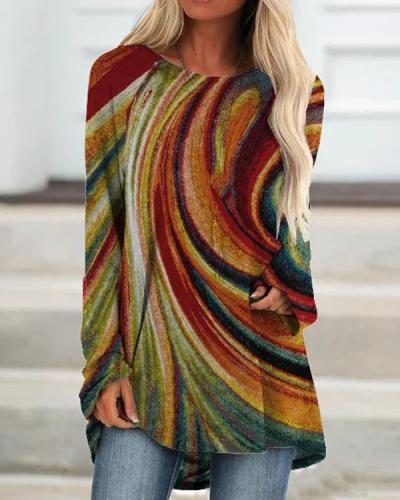 Women's Colorful Autumn T-Shirt