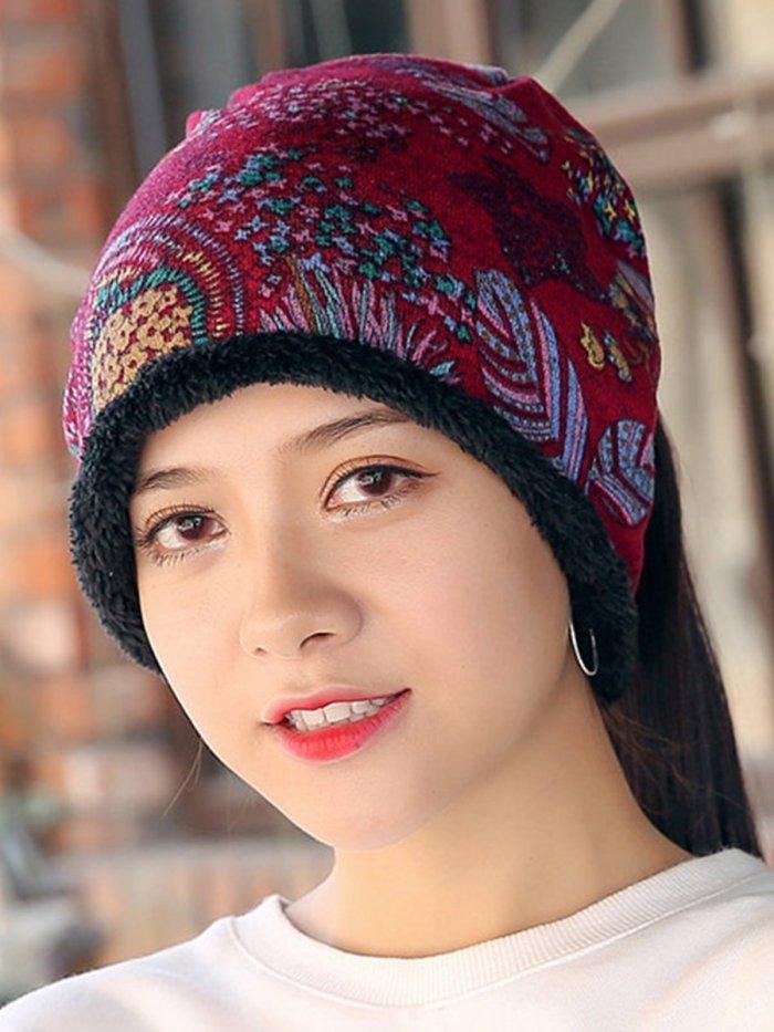 Womens Cotton Beanie Hat Vintage Good Elastic Warm Turban Scarf Caps