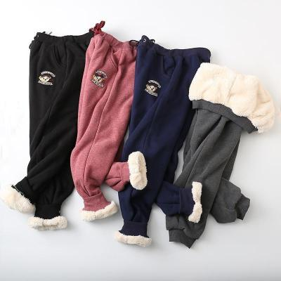 Women Solid Color Casual Daily Warm Pants
