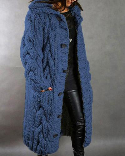 Women Winter Autumn Fashion Long Sweater Cardigan Loose Outerwear