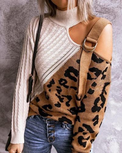 Casual Wear Mandarin Collar Sweater