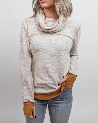 Casual Turtleneck Long Sleeve Sweater