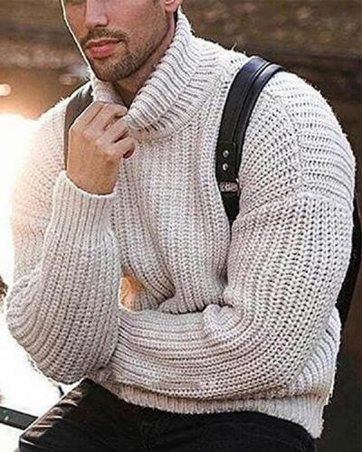 Fashionable Long Sleeve Fall Winter Knitted Sweater