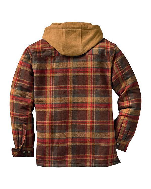 Zipper Color Block Hooded Fashion Winter Jacket