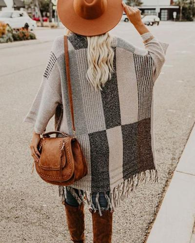 Women Tassel Design Shawl Cardigan