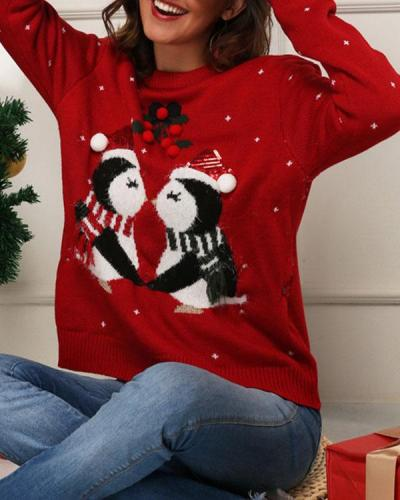 Women's Christmas Cute Print Sweater