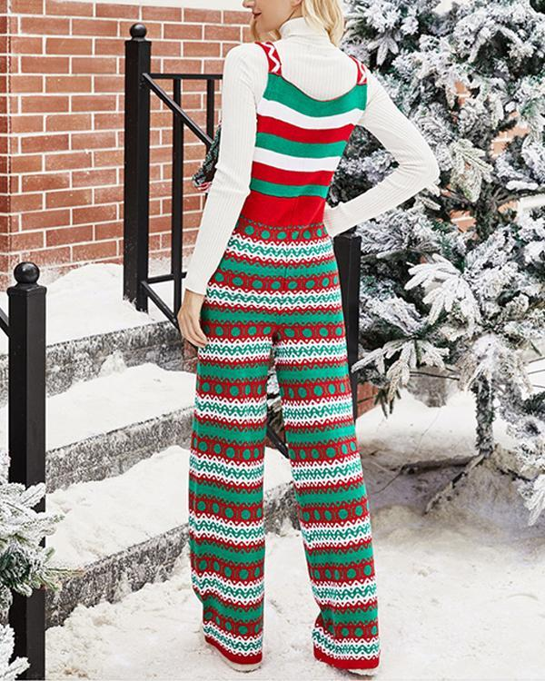 Christmas Snowflake Knitted Jumpsuit