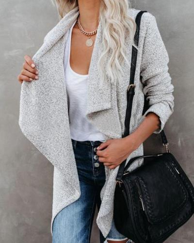 Women Autumn Daily Grey Outerwear