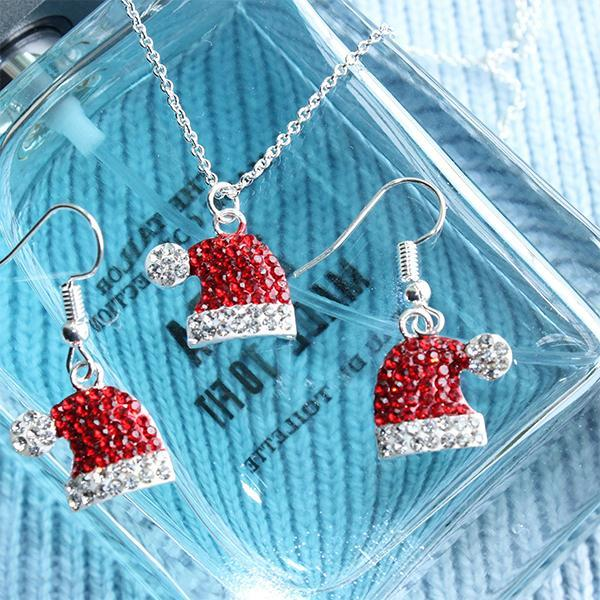 Christmas Gem-set Earrings