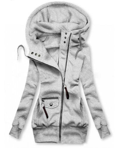 Hooded Long Sleeve Normal Pockets Hooded Jacket