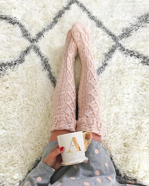 Knitted Long Thigh High Warm Socks