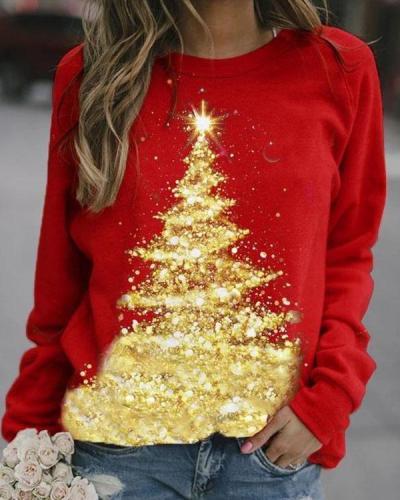 Fashion Shining Christmas Tree Sweatshirt
