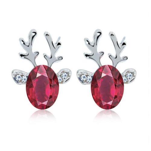 Christmas Crystal Gem-set Earrings