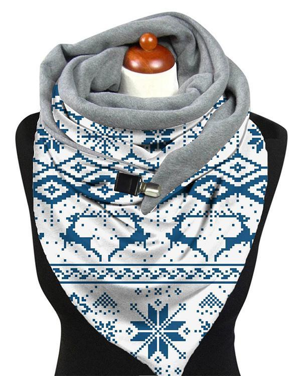 Women Print Cotton-Blend Casual Scarves & Shawls