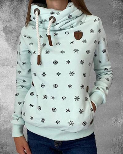 Pocket Long Sleeve Fashion Pullover Sweatshirt