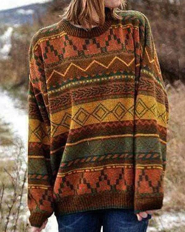 Women's Boho Vintage Sweaters