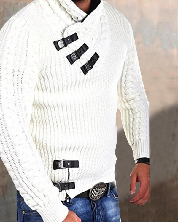 Men's Pullover Cable Knitting Sweater