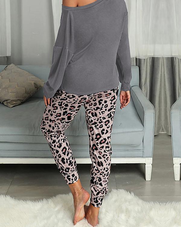 Casual Cotton Loungewear Women's Two Piece Sets