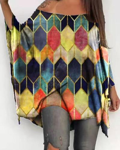 Women Casual Long Sleeve Batwing Tops & Shirts