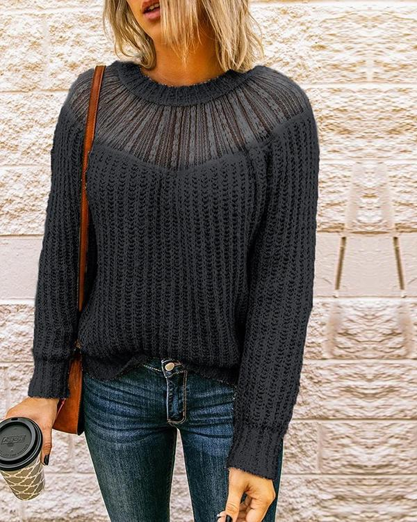 Trendy Patchwork Sweety Sweater
