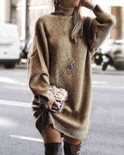 Trendy Patchwork Sweety Sweater Dress