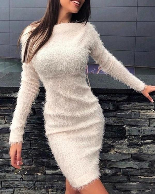 Trendy Bodycon Long Sleeve Dress