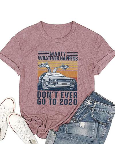 Women Letter Print Casual T-shirts