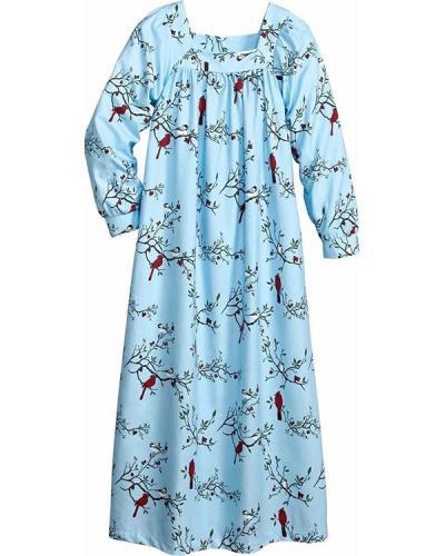 Women's Portuguese Flannel Square Neck Nightgown
