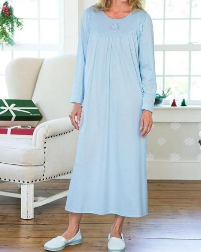 Calida Long-sleeve Soft Cotton Nightgown