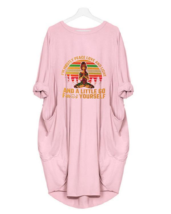 Printed Loose Casual Irregular Plus Size Dress