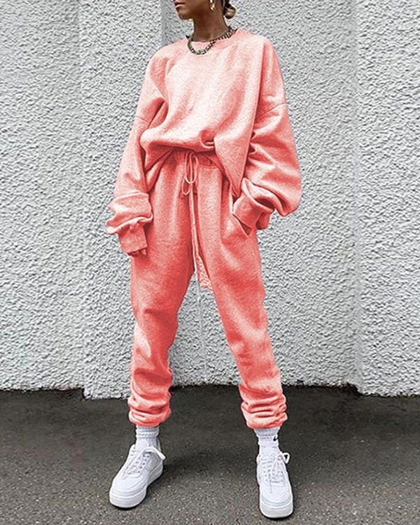 Women 2 Pieces Sets Street Style Casual Outfits