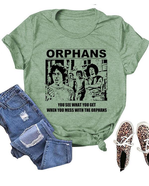 ORPHANS Printed Short Sleeves T-Shirt