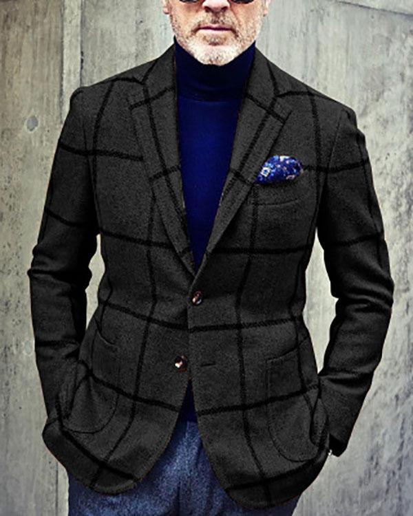 Men's Casual New Style Plaid Jackets