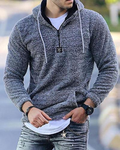Mens Casual Loose Hooded Sweatshirts
