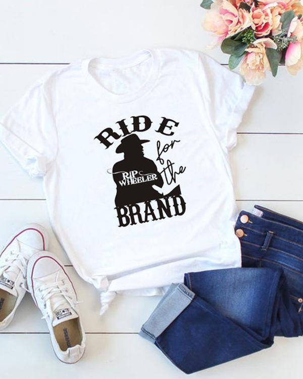 Ride Brand Printed Casual Short Sleeves T-Shirt