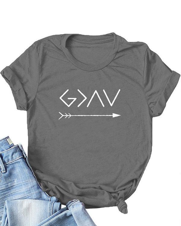 Women Print Daily Short Sleeves T-Shirts