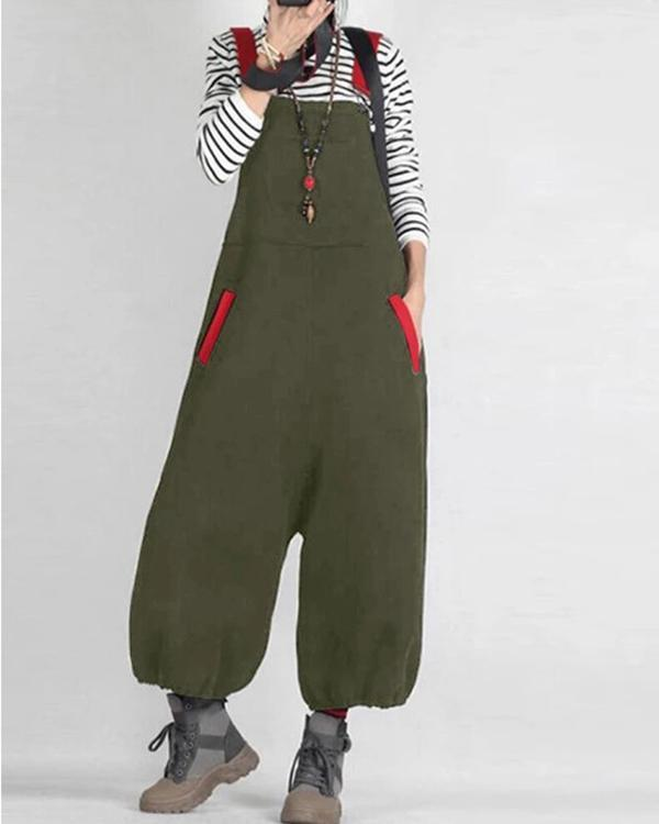 Women's Summer Jumpsuits Suspender Overalls Backless Playsuits