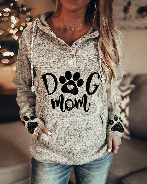 Women Print Long Sleeves Trendy Hoodies