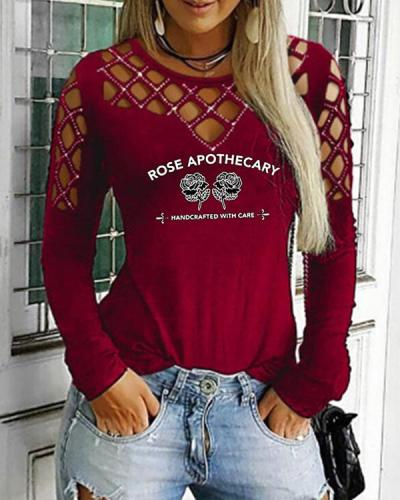 Women Sequins Cold Shoulder Long Sleeves Casual Sexy Blouses