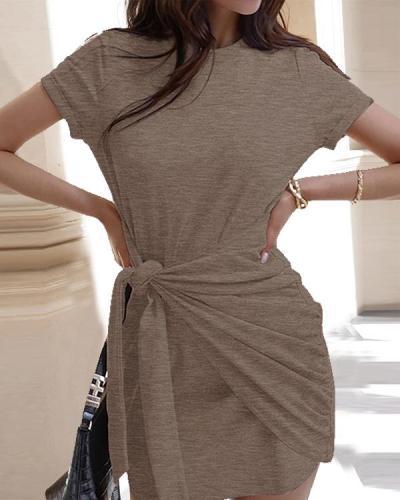 Women Casual Short Sleeve Fashion Mini Dress