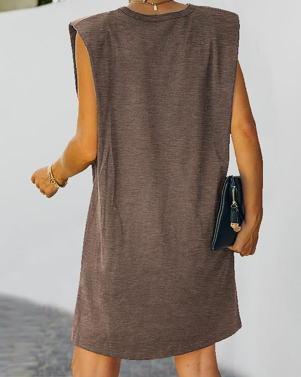 Women Daily Fashion Sleeveless Mini Dresses
