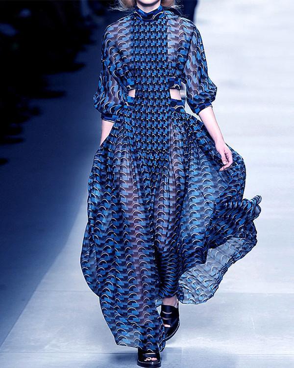 Women Fashion Elegant Long Sleeve Dress