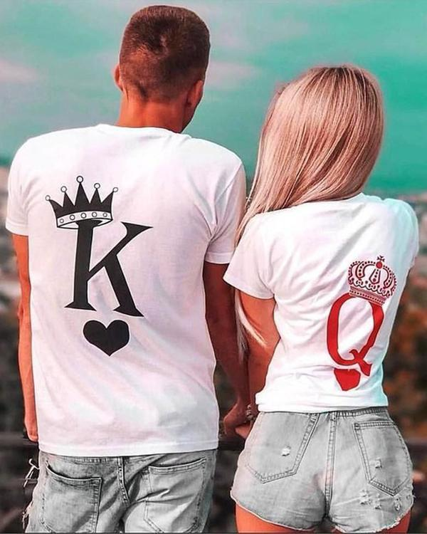 Poker Printed Couple Lovers Shirts
