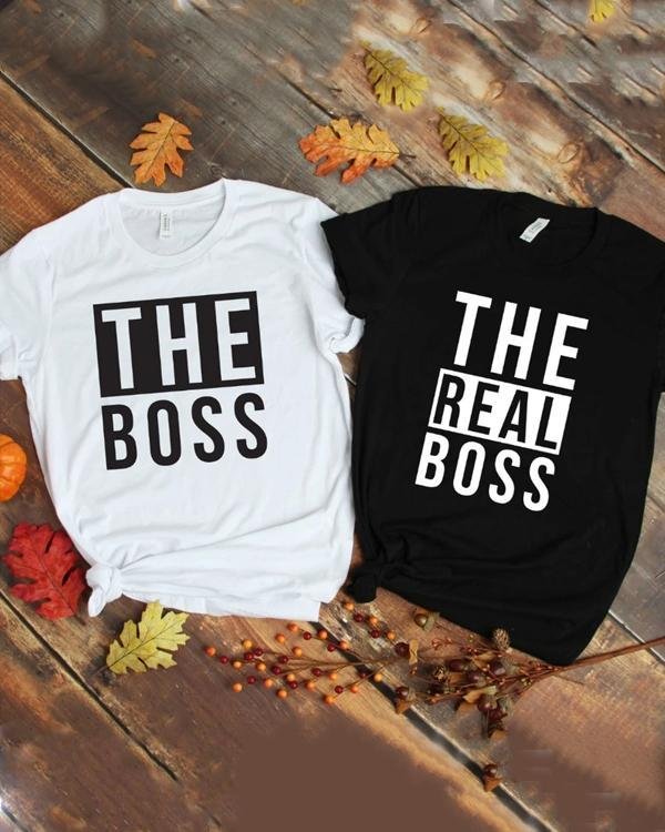 The Boss & The Real Boss Shirts Letter Printed Shirts