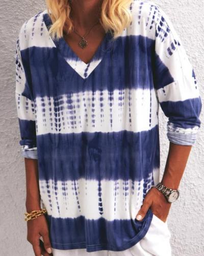 Tie Dye Print Short Sleeve Loose Fit T-Shirt
