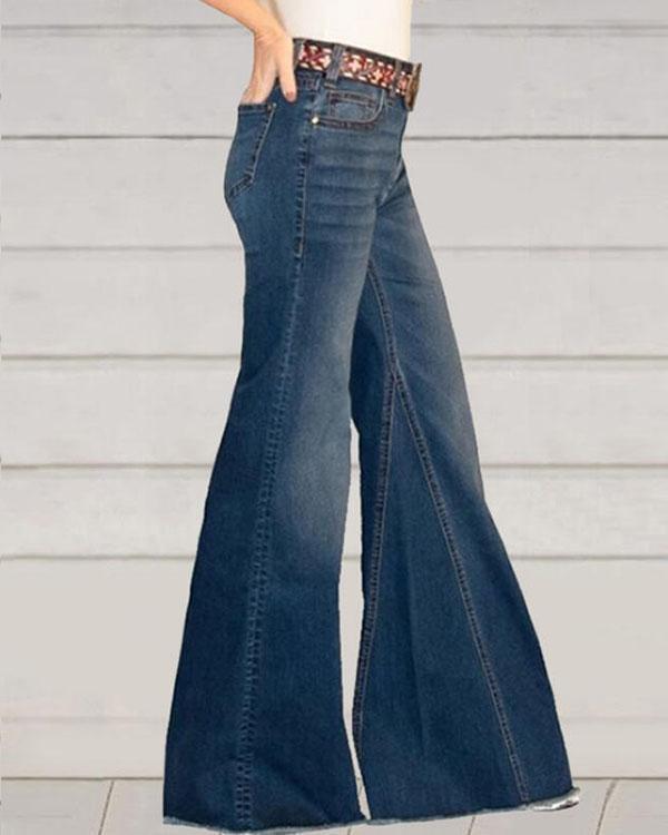Ombre Denim Vintage Wide Leg Pants